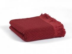 Плед-покрывало Casual Avenue Fresno pique blanket red wine 165х240